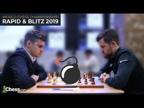 Matlakov Vs Carlsen | Gambito De Dama | Ajedrez Blitz Narrado En Tiempo Real