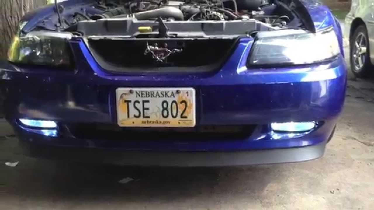Install Fog Lights 99 04 Mustang V6 YouTube