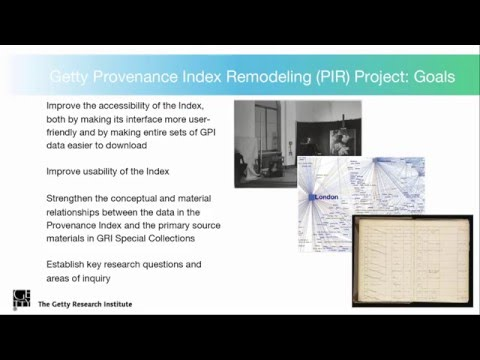 Rebuilding the Getty Provenance Index as Linked Data