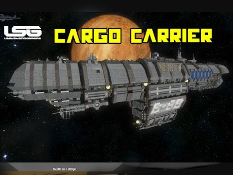 space engineers ecliptis b68 cargo carrier youtube