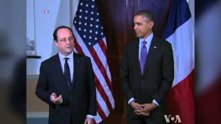 French President Visits With Obama At Jefferson