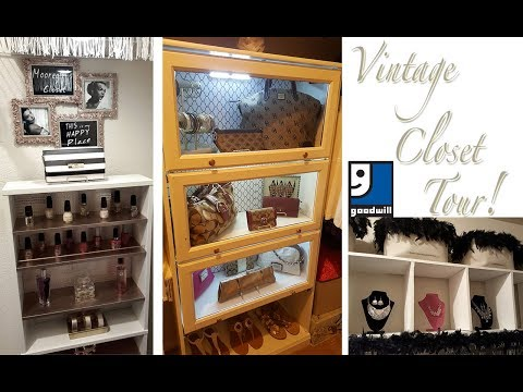 GOODWILL VINTAGE CLOSET TOUR! | MUST SEE GOODWILL AND DIY CLOSET