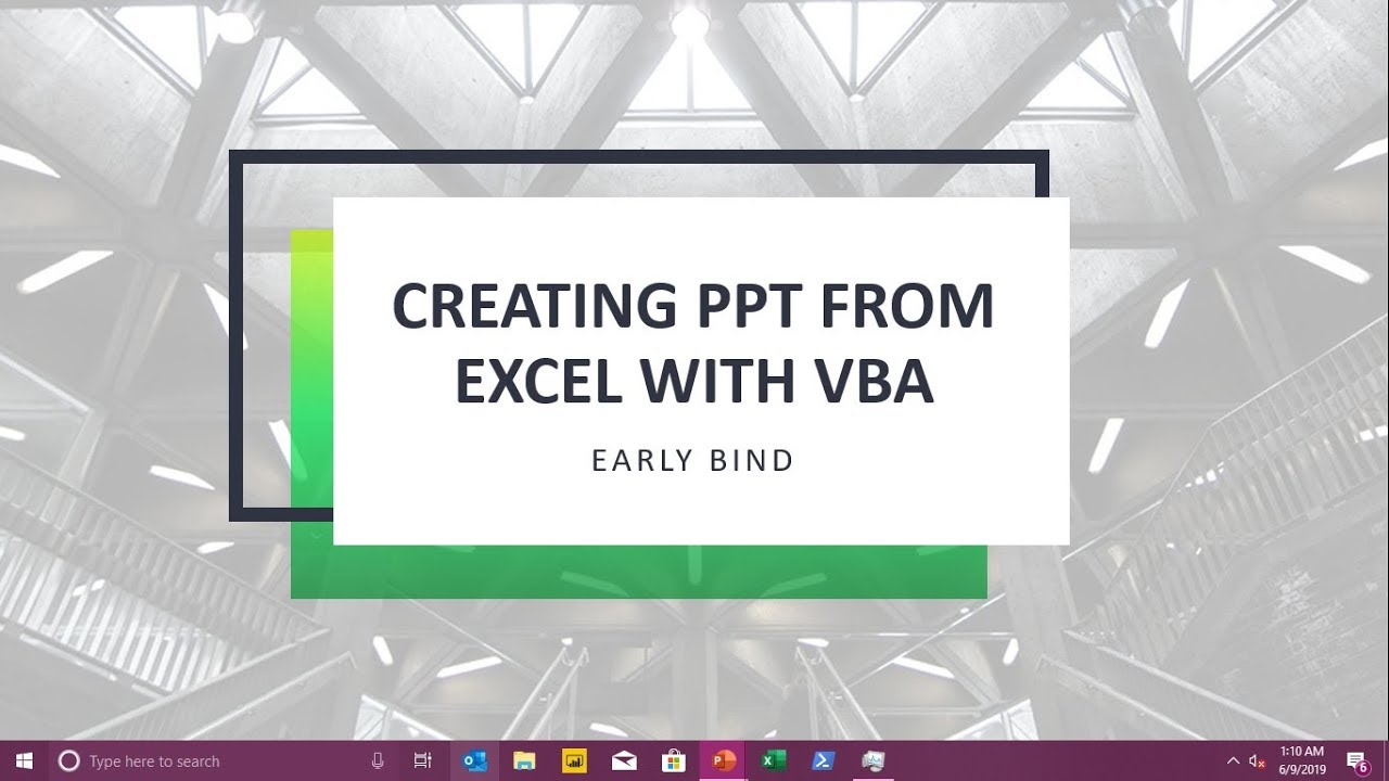 How to create a complete PPT from Excel with a press of button