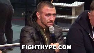 LOMACHENKO VISIBLY ANNOYED WHEN QUESTIONED ABOUT PEDRAZA PERFORMANCE: