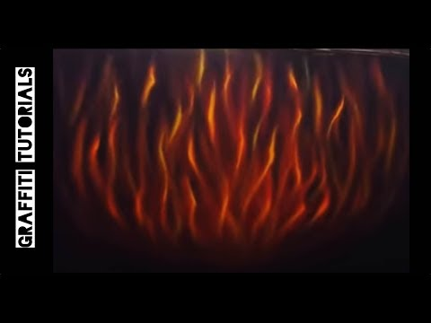 GRAFFITI TUTORIALS: How to Paint Realistic Flames