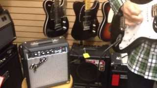 squier affinity series strat with 10g fender frontman amp
