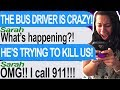 My Bus Driver Went Crazy And Tried To Kill Me Driving Back To School!! -  (Tap | Haunted Bus Driver)