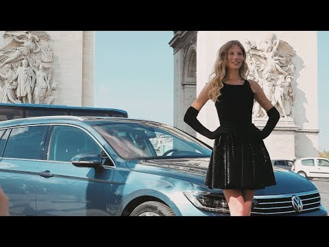 Sarah Brandner präsentiert den neuen VW Passat 2014
