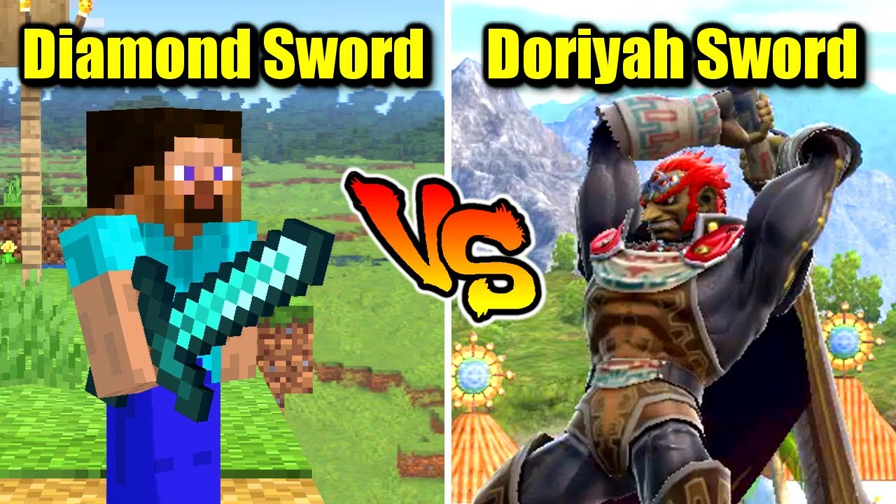 Who is Stronger Than Minecraft Steve's Diamond Sword in Smash Bros. Ultimate?