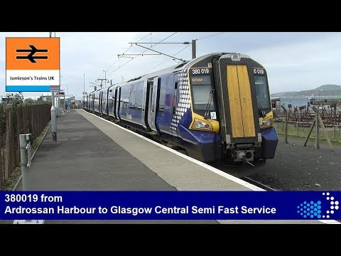 380019 from Ardrossan Harbour to Glasgow Central Simi Fast Service