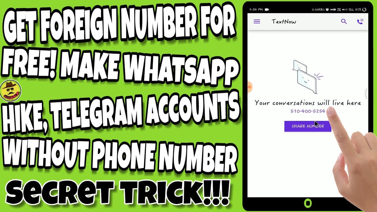 How to Get FOREIGN Number for Free - Make Social Apps' Accounts without  Phone Number   TricksWala