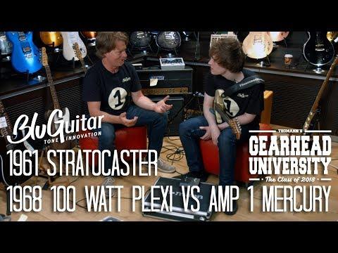 #TGU18 - 1961 Stratocaster - 1968 100watt Plexi vs Bluguitar AMP1 Mercury and demo with Thomas Blug