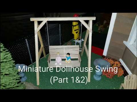 Miniature Dollhouse Swing