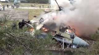 видео с места падения вертолёта в Жулебино вертолёт(Упал вертолет при посадке в жулебино Очевидцы сняли на видео крушение вертолета Ка-52