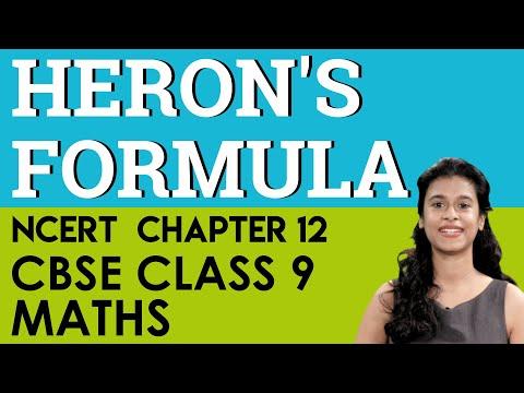 Heron's Formula Mathematics Chapter 12 CBSE NCERT Class 9 IX