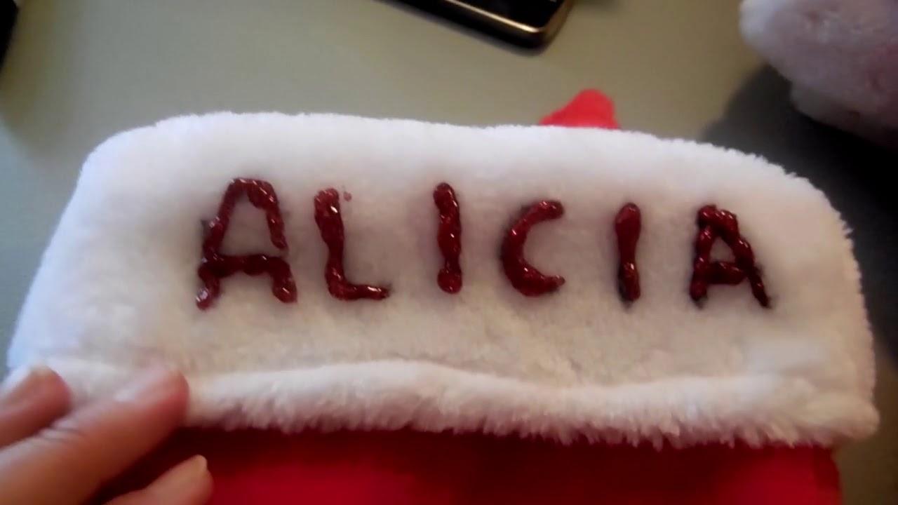 DIY - Putting Names on Christmas Stockings