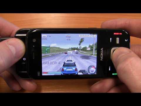 Asphalt 4 Elite Racing on a Nokia N85 N-Gage
