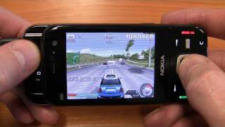 Asphalt 4 Elite Racing on a Nokia N85 N-Gage
