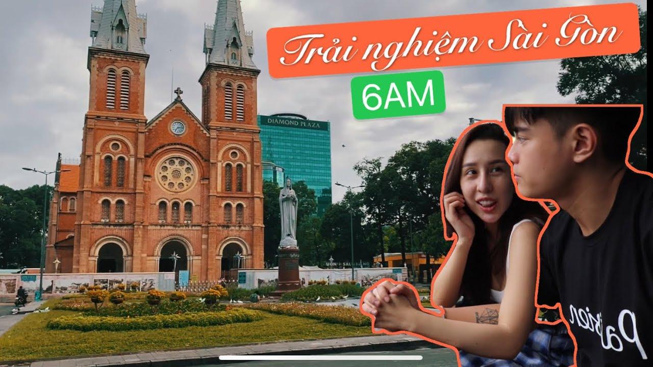 Trải nghiệm Sài Gòn lúc 6 giờ sáng   Cặp Đôi Xàm Xí – Đỗ Lâm Vlog   #17