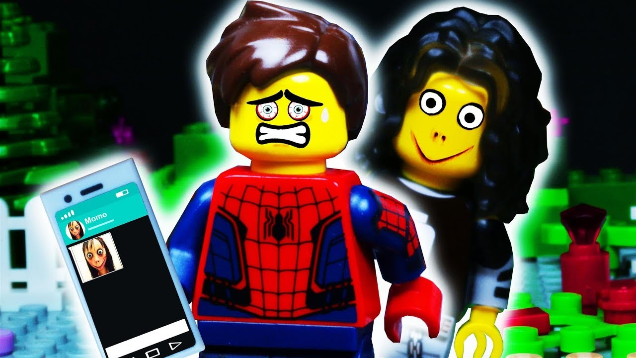 MOMO Whatsapp LEGO SPIDER MAN Prank / Stop Motion Animation