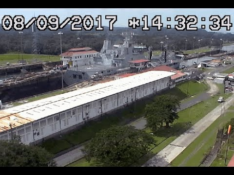 RFA Tiderace at Gatun Locks Panama