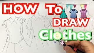 How to draw clothes for beginners | 教你如何畫衣服