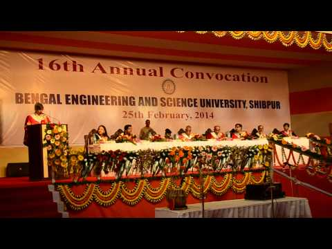 16th Annual Convocation of Bengal Engineering & Science University, Shibpur, 2014 - Part 2