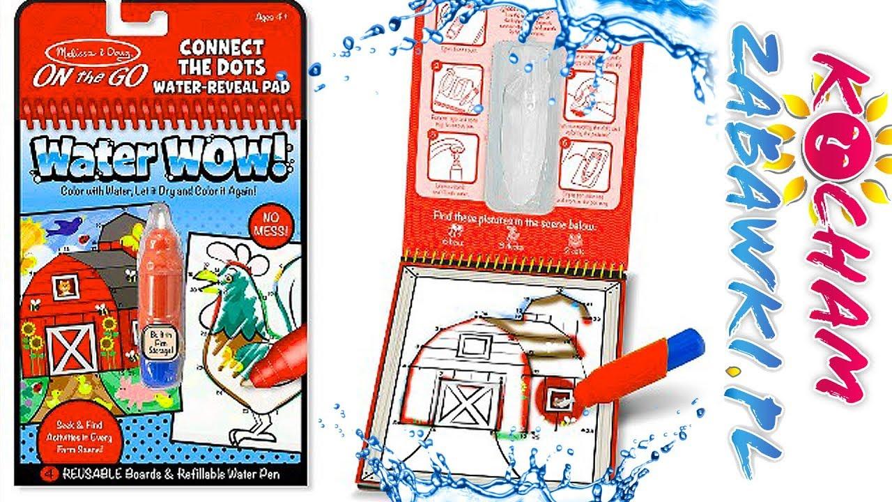 Water Wow • Zwierzęta gospodarskie • Magiczna kolorowanka • Melissa & Doug • kreatywne zabawki