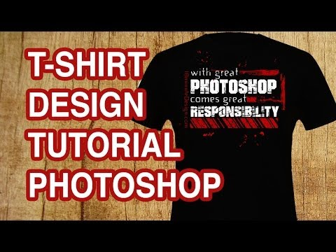 ae128d849 How to Design a T-shirt with Text - Photoshop Tutorial - YouTube