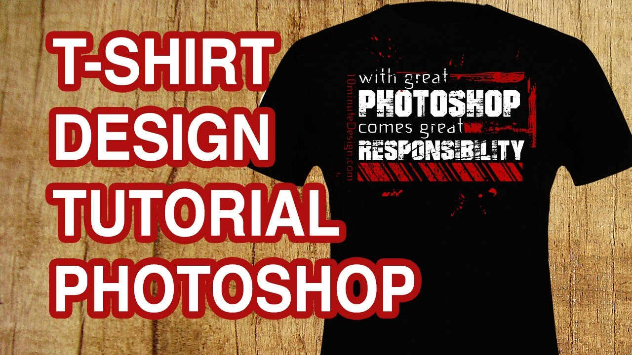 how to design a t shirt with text photoshop tutorial