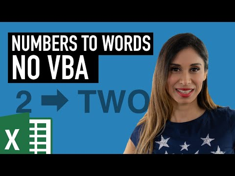 Convert NUMBERS to WORDS (NO VBA) in Excel