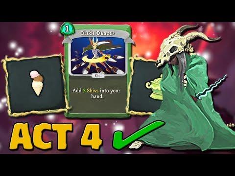 Slay The Spire - Act 4 Ascension 20 Silent Kill | Icecream Shiv Deck