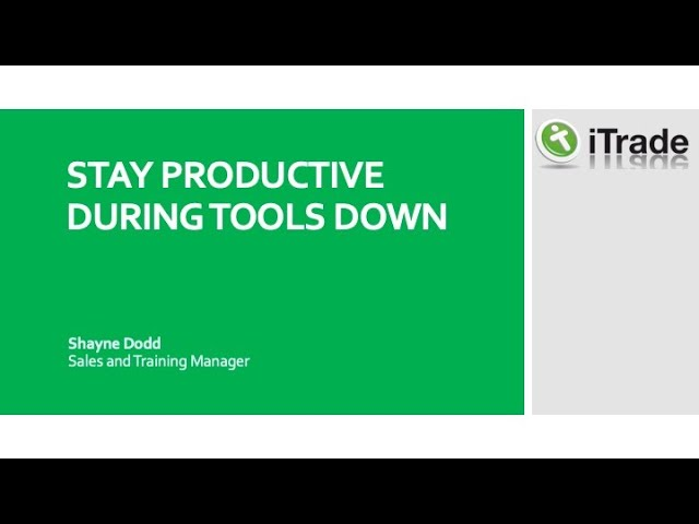 Stay Productive During Tools Down