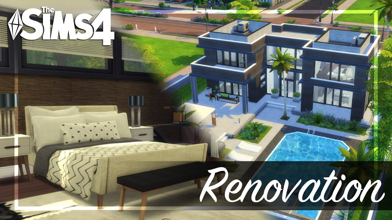 The sims 4 modern house renovation build with custom content