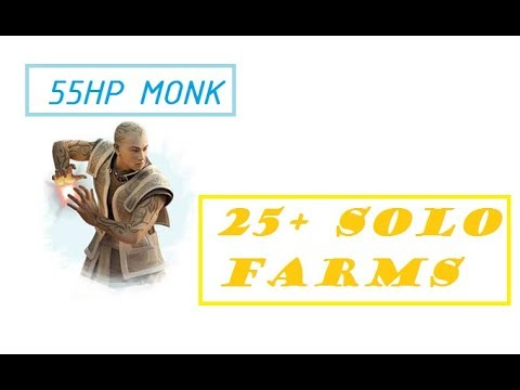 Guild Wars - 25+ Solo Farms - 55 HP Monk - 2018