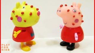 Свинка Пеппа и Доктор Плюшева. Ветрянка. Peppa Pig, videos with toys.