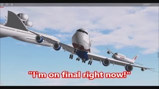 ROBLOX Landing Competition BLOOPERS (Behind The Scenes) APWA