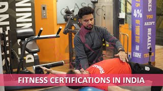 Fitness certifications in India ||ACE\ACSM\CFI\CPT||CFA