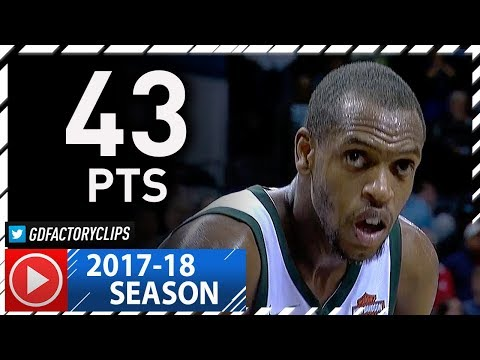 Khris Middleton Full Highlights vs Hornets (2017.11.01) - Career-HIGH 43 Pts, 7 Ast