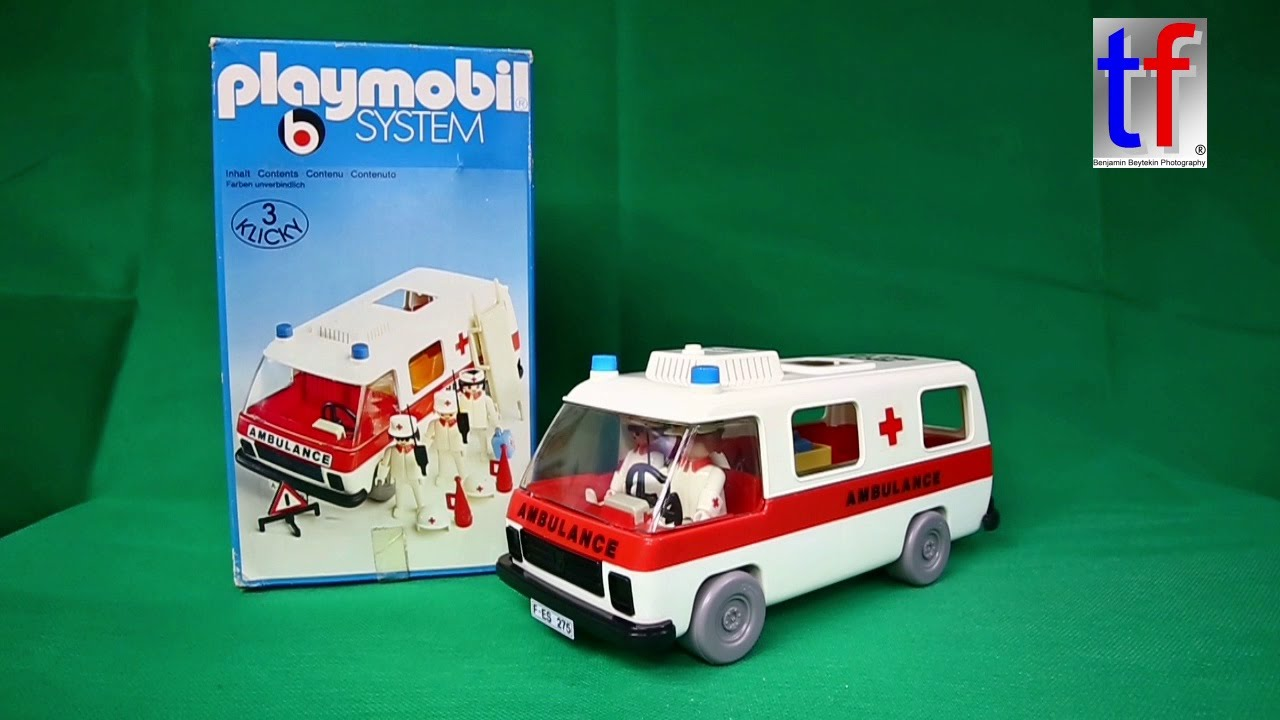 playmobil 3254 ambulance 1 version 1977 review youtube. Black Bedroom Furniture Sets. Home Design Ideas