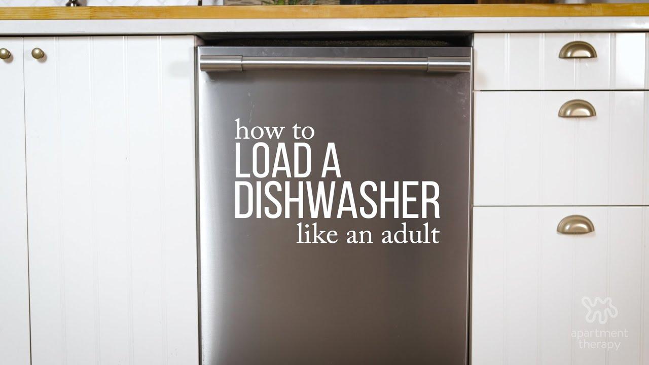 Adulting 101: Loading A Dishwasher - YouTube