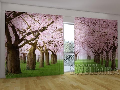 Interior Textile Wellmira - curtain with print, 3D photo curtain, photoset for bedroom