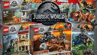 Lego Jurassic World: Fallen Kingdom Set Pictures!! All Dinosaurs And MORE!!