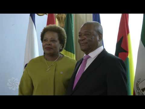 Secretária Executiva recebe Presidente da República de São Tomé e Príncipe