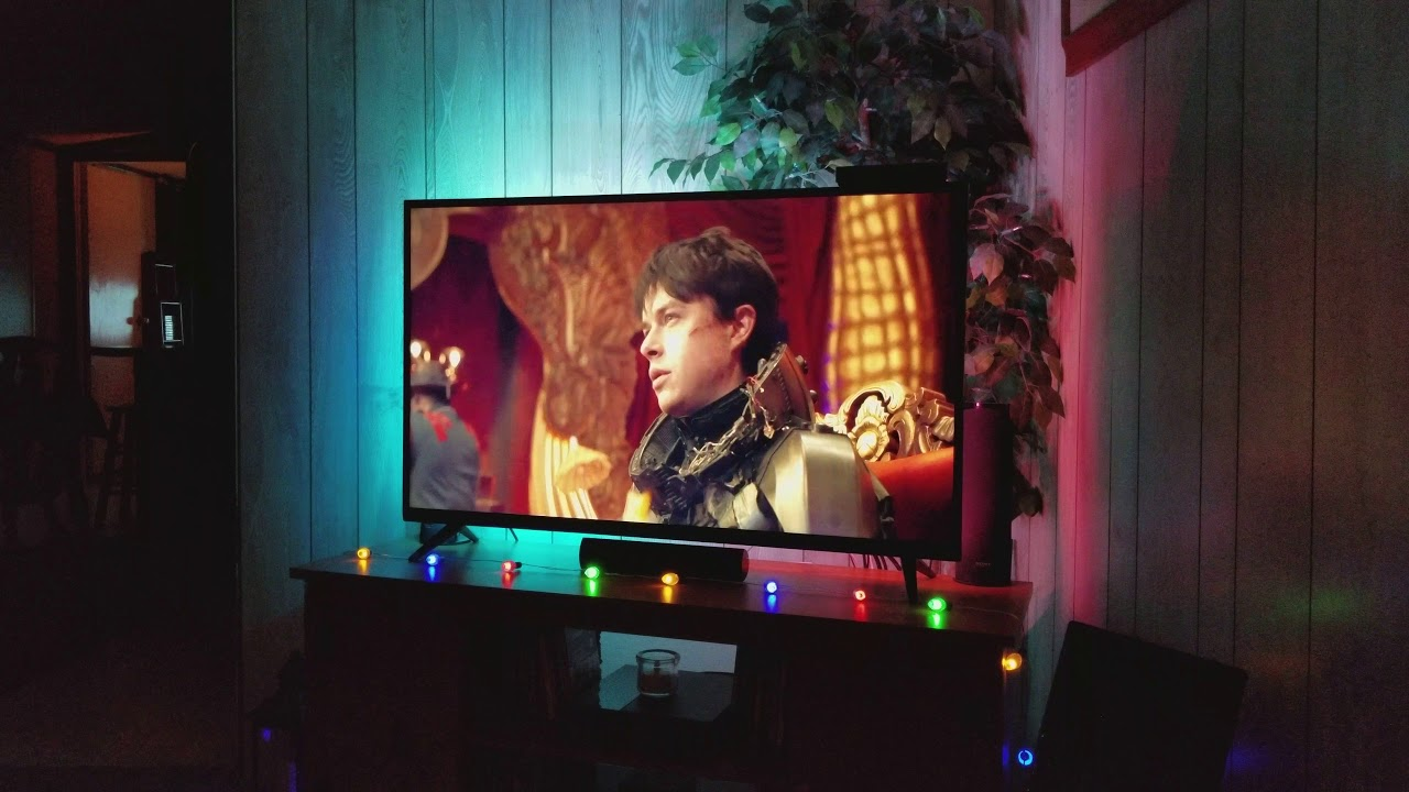 Philips Hue Led Strip Tv.Philips Hue Light Strip Test With Tv Youtube