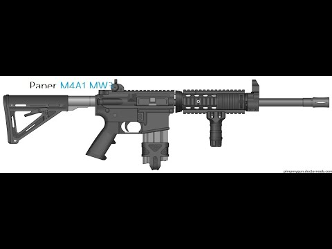 How to make a Paper M4A1 MW3 Part 2