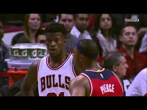 Paul Pierce FIGHTS Joakim Noah!!! Preseason Game? (HD)