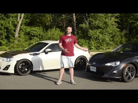 Stock Scion Frs Versus Turbo Scion Frs Street Comparison Youtube