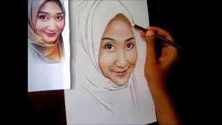 cara melukis wajah dengan pencil warna