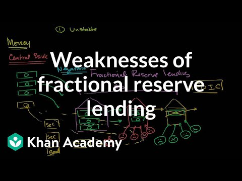 Weaknesses of fractional reserve lending | The monetary system | Macroeconomics | Khan Academy